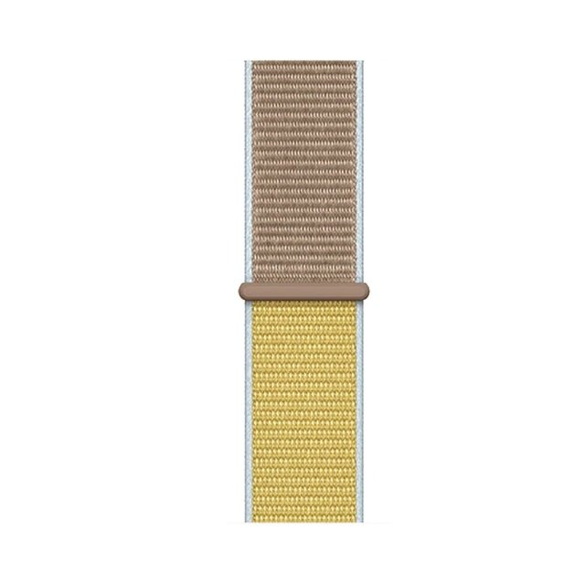 Two Tone Woven Nylon Apple Watch Band - Camel