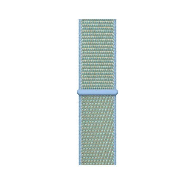 Sporty Mix Woven Nylon Apple Watch Band - Aqua Shimmer