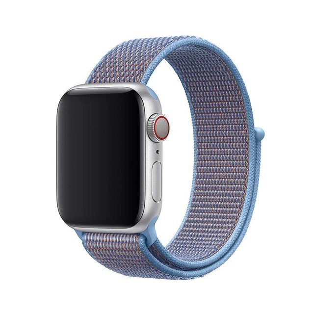 Sporty Mix Woven Nylon Apple Watch Band - Baby Blue