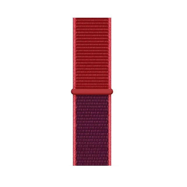 Two-Tone Woven Nylon Band for Apple Watch – Red