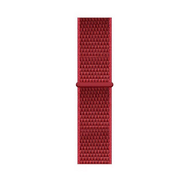 Woven Nylon Apple Watch Band - Red