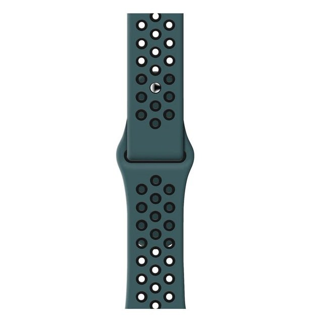Breathable Silicone Sports Apple Watch Band - Celestial teal & Black